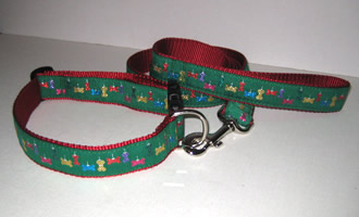 Christmas Green Glitter Bone Collars