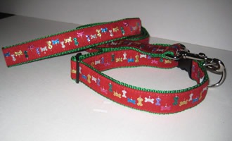 Christmas Red Glitter Bone Collars